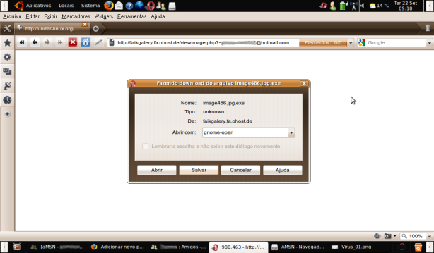 """""""Imagem"""" executável em Windows"""