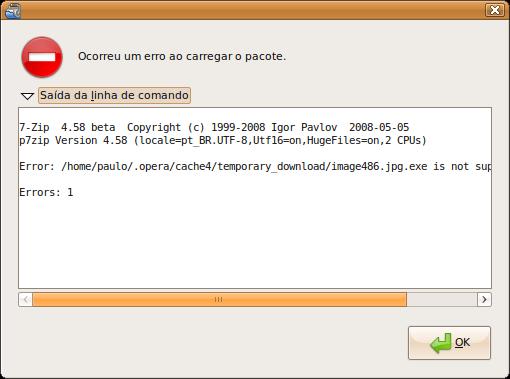 Incompatibilidade do vírus com o GNU/Linux