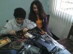 Luiz, 12 anos e seu Arduino